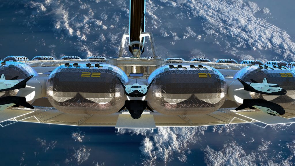 Von Braun Space Station rendering courtesy of Domum and The Gateway Foundation. The image Dezeen chose, which continues to snag the media's attention.