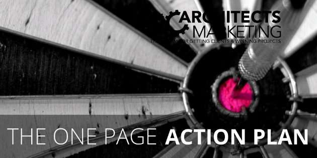 Architects Marketing One Page Action Plan