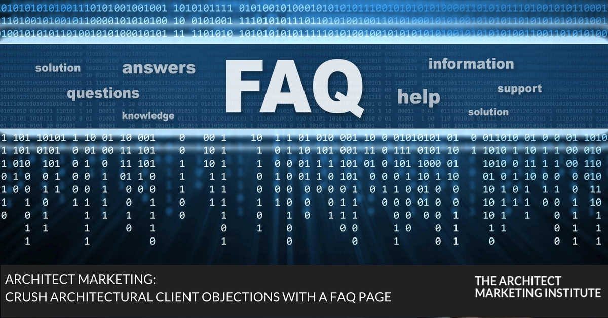 architectural client objections with faq