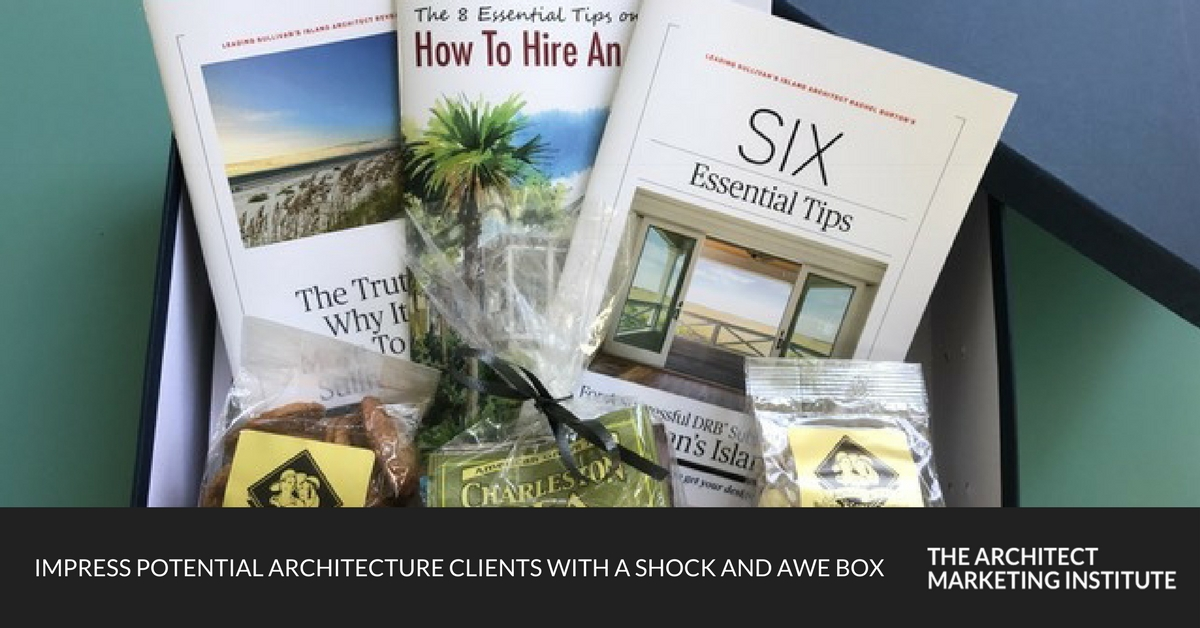 impress potential architecture clients with a shock and awe box