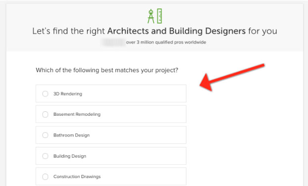 architects and building designers survey (example of Architecture Firm Marketing)